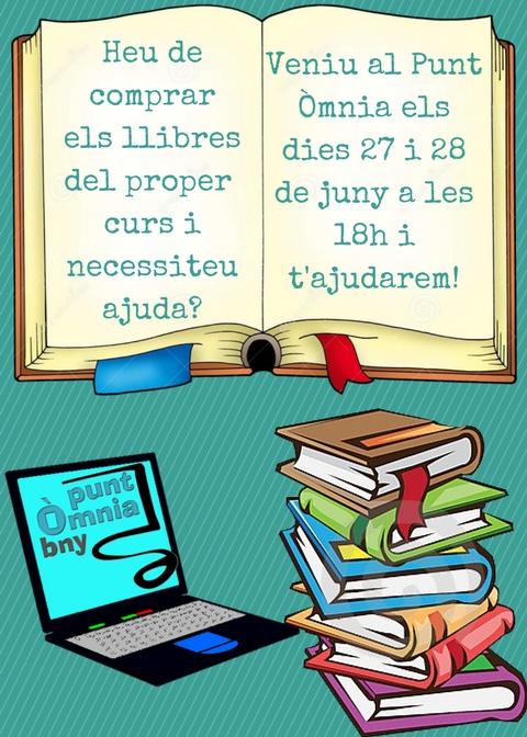 T'ajudem a demanar els llibres del proper curs on-line!!
