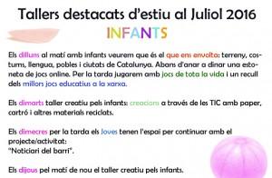 JULIOL 2016 TALLER INFANTS
